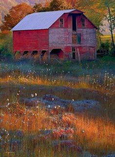 This is a different looking barn but it's a barn anyway, so it counts.