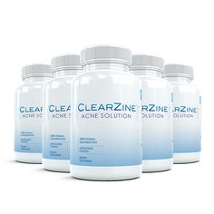 Clearzine (4 Bottles) - The Top Rated Acne Treatment Pill. Eliminates Acne, Blackheads, Redness, Blotchiness and Zits - 60 capsules per bottle ** This is an Amazon Affiliate link. You can find more details by visiting the image link.