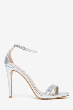 Steve Madden Stecy Heel - Silver | Shop What's New at Nasty Gal