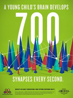 Graphic: A young child's brain develops 700 synapses every second.