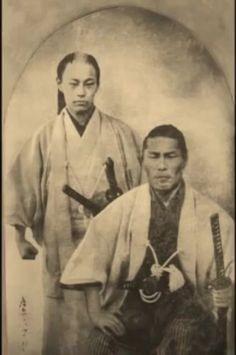 Kondo IsamI (right) and Soji Okita (left) of the Shinsengumi 1866?  新撰組の近藤勇と沖田総司とされる写真。