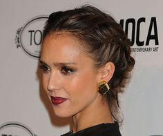 I love braids. Jessica Alba always does some beautiful ones.