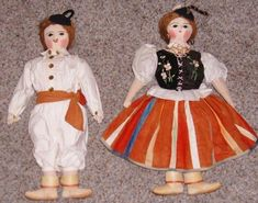 Set of 2 Old Souvenir Rare Unique Cloth Vintage Dolls Medeira Islands Religious #Unbranded #Dolls