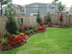 simple backyard landscaping ideas- this would look great on our back fence