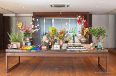 Mesa de Doces - Casamento Aline & Maia - Decoração, Bouquet de Noiva e Acessórios - Vanessa Oz Flores  -  Casa Aragon
