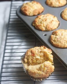 Corn Muffins with Corn, Hot Peppers & Scallions | Big Girls Small Kitchen