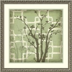 Jennifer Goldberger 'Silhouette & Pattern Iii' Framed Art Print 24 x 24-inch
