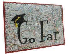 Graduation Card - Go Far - Handmade - Graduation Cap
