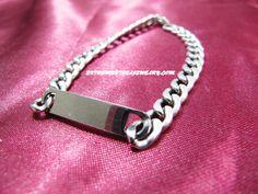 316L Surgical Steel Engrave-able I.D. Curb Chain Bracelet