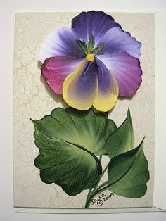 Pansies ♥ The Botanical Collection Note Card hand painted Folk Art Flowers, Flower Art, Donna Dewberry Painting, Tole Painting Patterns, One Stroke Painting, Country Paintings, Painting Lessons, Easy Paintings, Pictures To Paint