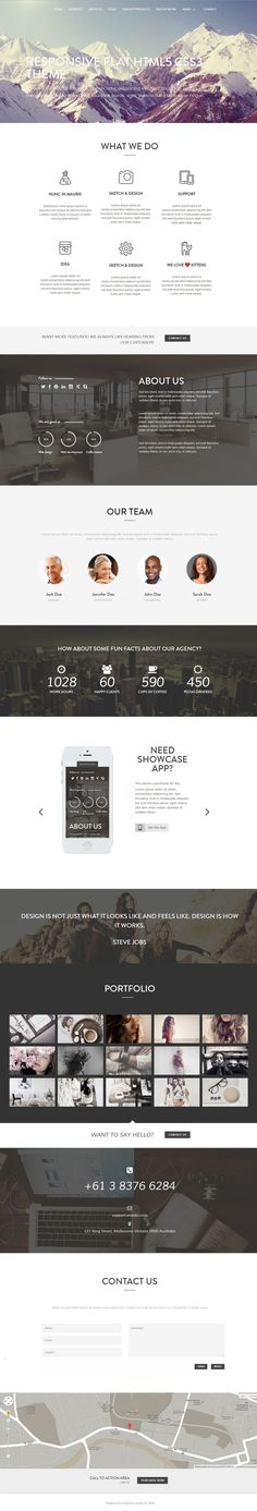 Mountain - One Page Parallax Html Template by Lesya Fragrance, via Behance