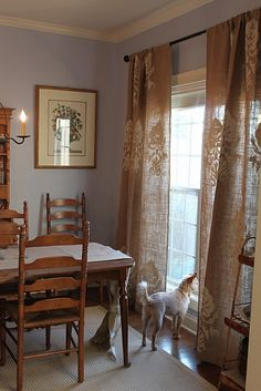 Burlap Curtains For East Livingroom