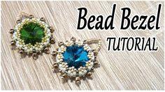 Bead bezel tutorial - How to bezel a crystal using Peyote stitch