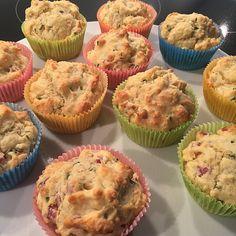 Herzhafte Speck und Käse Muffins 4 Cupcakes, Snacks, Tapas, Brunch, Baking, Breakfast, Cakepops, Savory Muffins, Finger Food
