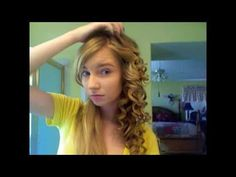 "This is my hair tutorial inspired by Taylor Swift :)    FAQ : What size curling iron do i use? 3/4 ""  What curling iron brand and where did i get it? Its a Jilbere de Paris curling iron and i probably got it from Walmart! :) How long does it take?  it takes me about 45 minutes to an hour and even as little as 30 minutes sometimes, it depends ho..."