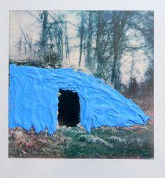 Elsa K. Gaertner: Overpainted Photograph - Ruins