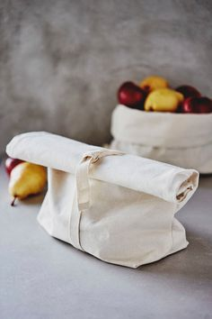 Washable Cotton Bread Bag, Zero Waste Gift, Reusable Food Bag, Bake house No. Bread Bags, Bag Packaging, Couture Sewing, Reusable Bags, Cotton Bag, Zero Waste, Cosmetic Bag, Creations, Textiles