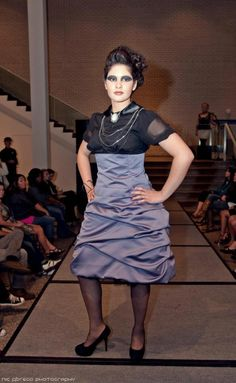 SGMS Full Fashion Panic. MN Fashion Week. Designer: Deborah Block. MUA (Complexion): Flawless Shades. MUA (Eyes): Leanne Skar. Hair: Abbey from Head to Toe. Courtesy of Nic Abrego Photography.