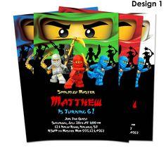 Ninjago Invitation - Birthday Party Printable Invite - You-Print Custom Personalized Digital Photo Card 4x6 or 5x7