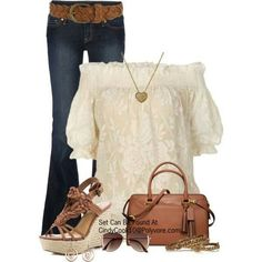 Love the classy top w/ the jeans.