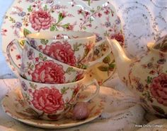 "Rose Chintz Cottage: ""A Tea of Roses"" for Tea Time - A collection of Johnson Brothers Rose Chintz"