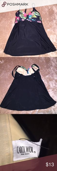 Carol Wior One Piece Dress Swimsuit Gently used Carol Wior One Piece Dress Swimsuit. Very comfortable perfect for the curvy figures. Carol Wior Swim One Pieces