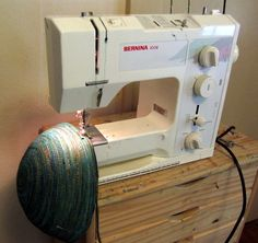 Art In Stitches: How to Make a Fiber Vessel - reverse method from most basket instructions.