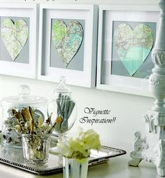 How to reinvent old maps into super-cool decor :)