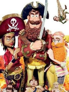 PIRATES IN AN ADVENTURE WITH SCIENTISTS - Directed by British animation legend and Aardman co-founder Peter Lord and based on Gideon Defoe's cult novel series, The Pirates! In An Adventure With Scientists is a delirious high-seas romp starring Hugh Grant as the luxuriantly bearded Pirate Captain, who navigates his salty crew on a perilous mission to Victorian London to aid a young Charles Darwin voiced by David Tennant.