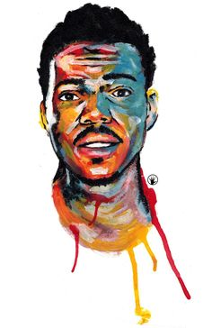 "pencilfingerz: ""Acrylic painting of Chance The Rapper """