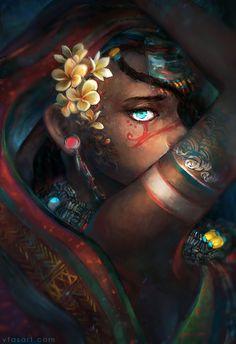 "vtasart: "" Moribayassa; my eyes filled with oceans. 1 exhibit, 1 book, over 300 participants—The Art of Aqualumina Kickstarter (2015) """