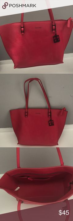 7aaf668050 Calvin Klein pink purse Perfect bright summer purse. Has one big  compartment and couple smaller