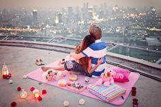 Rooftop Picnic Date