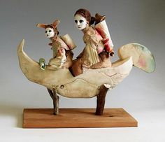 Cary Weigand - 'The Rabbit and The Wolf' - The Art Spirit Gallery of Fine Art Coeur d'Alene Idaho