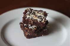 olive oil and coconut brownies