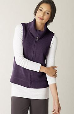 j jill textural vest--when the cowl met the turtle and they made a vest.