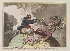 Napoleon Bonaparte ('Fighting for the dunghill: - or - Jack Tar settling Buonaparte')  ca. 1798
