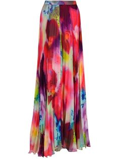 ALICE OLIVIA Pleated Maxi Skirt