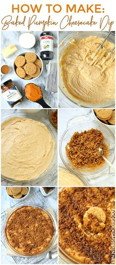 Your new favorite fall dessert: Baked Pumpkin Cheesecake Dip with a gingersnap crumble and caramel drizzle! PLUS a recipe video so you can see just how easy this Pumpkin Cheesecake Dip is to make!  #pumpkin #pumpkinrecipe #pumpkindessert #fall #falldessert #fallrecipe #Thanksgiving #ThanksgivingRecipe #recipe #recipeoftheday