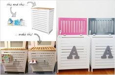 Kmart Hacks Turn Bamboo Lid Storage Boxes into Personalized Toy Boxes
