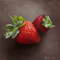 Giclee, Archival, Matted Print of an Original Oil Painting of Strawberries - New Site Fruit Painting, Painting Prints, Oil Paintings, Painting Abstract, Fruit And Veg, Fruits And Veggies, Vegetables, Oil Pastel Drawings, Still Life Oil Painting