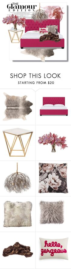 """""""Perfectly pink Bedroom Suite"""" by poshtori on Polyvore featuring interior, interiors, interior design, home, home decor, interior decorating, OPI, Dot & Bo, Nuevo and Bloomingville"""