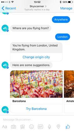Let Skyscanner's Messenger bot inspire you!