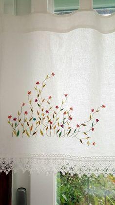 커튼바란스 자수패키지 : 네이버 블로그 Hand Embroidery Patterns Flowers, Hand Embroidery Dress, Japanese Embroidery, Hand Embroidery Stitches, Crewel Embroidery, Hand Embroidery Designs, Embroidery Techniques, Embroidery Kits, Embroidery Needles