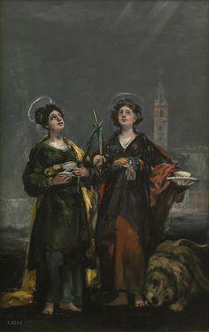 """""""Santa Justa y Santa Rufina"""", Francisco de Goya, 1817"""