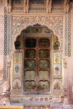 Indian door by J Pandolfo