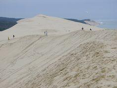 Rutschpartie auf Europas höchster Düne   BLEU, BLANC, ROUGE