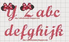 """Delicado Cantinho: Gráficos Ponto Cruz """"Monogramas Mickey e Minnie ..."""