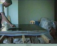 DIY concrete countertops