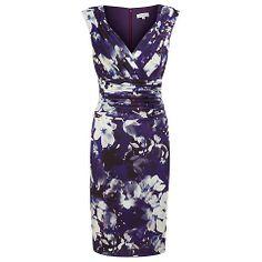 Buy Kaliko Wrap Pleated Lana Print Dress, Purple Online at johnlewis.com